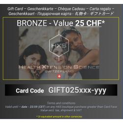 BRONZE Gift Card - 25 CHF -...